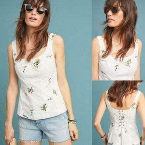 NWT $98 Anthropologie Dandelion Peplum Top 12